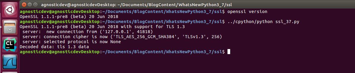 SSL and TLS Updates for Python 3 7   Agnostic Development